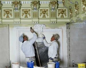 contractors working on trim