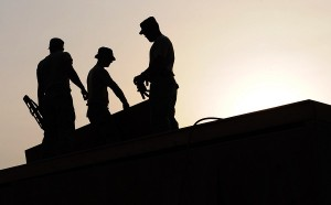 home improvement contractors on roof