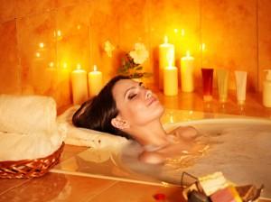 womain in her dream bathtub