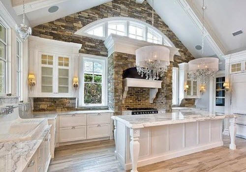 white kitchen by kitchen remodeling Arlington contractor