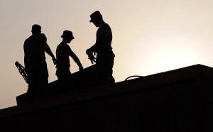 home improvement contractors on roof