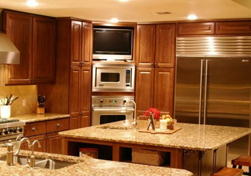 custom cabinets Midland by remodeling contractor