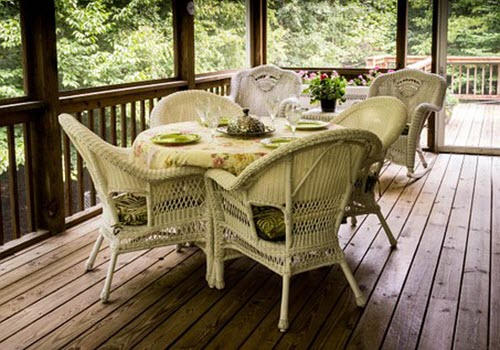 screened porch by deck builders Midland